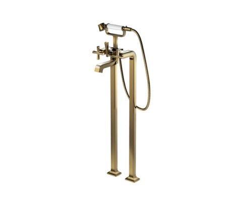 Vòi xả bồn đặt sàn nóng lạnh kèm sen tắm ToTo DM209ACF#PG