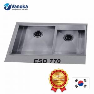 Chậu rửa bát Hàn Quốc Ecofa ESD 770 âm bàn