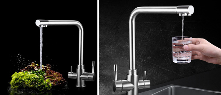 Vòi rửa bát 3 đường nước sự lựa chọn đầy tiện nghi cho gia đình