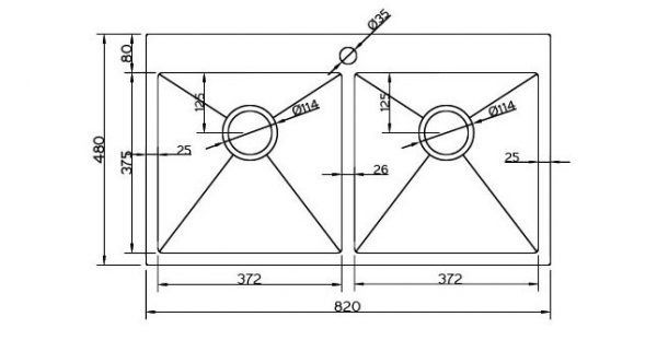 Kích thước lắp đặt chậu rửa bát Hàn Quốc Sobisung SB-8248 Inox 304 chất lượng