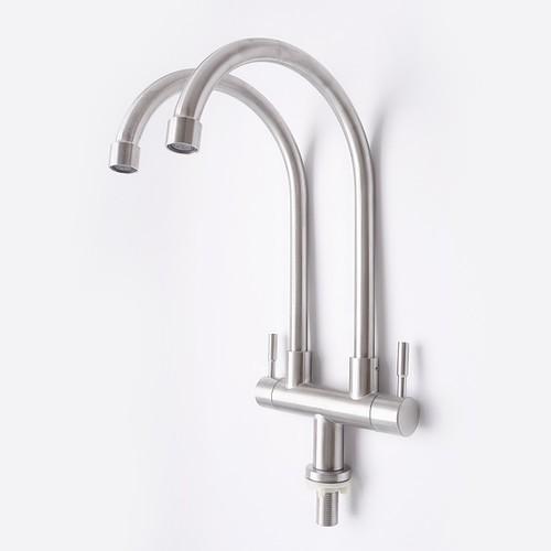 Thiết kế 1 đường vào và 2 đường nước ra với 2 van nước riêng biệt.